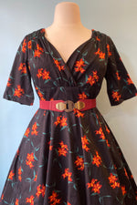 Trixie Midnight Lily Floral Dress by Collectif