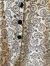 Cream and Black Bicycle Print Buttoned Sleeveless Dress by Eva Rose
