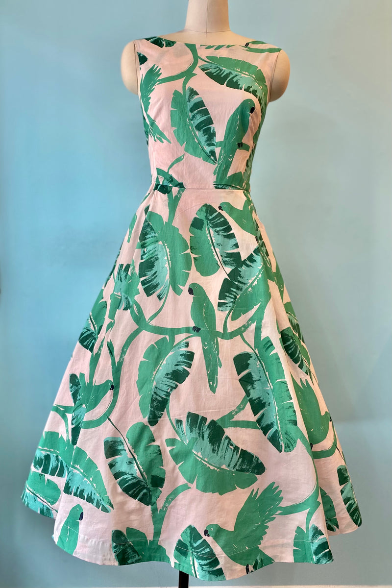 Jasmine Dress in Botanical Parakeets by Emily & Fin