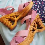Pagoda Wedge Shoes by Lucky Lou
