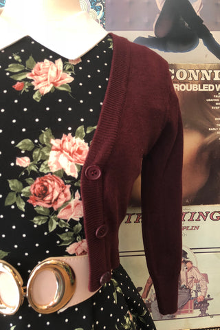 Burgundy Perfect Cropped Cardi