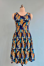 Papaya Print Summer Sonnet Dress by Mata Traders