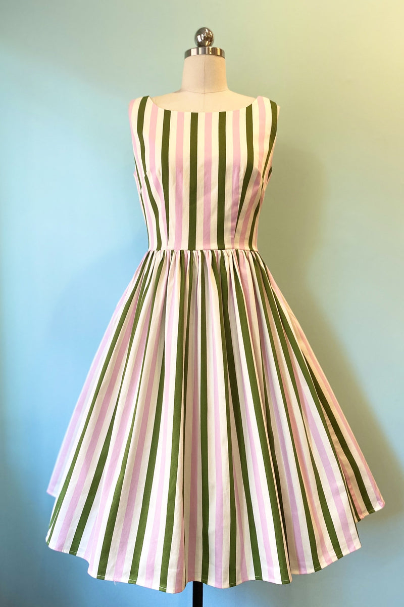 Candice Strawberry Striped Swing Dress by Collectif
