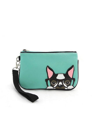 Nerdy Boston Terrier Wristlet Wallet