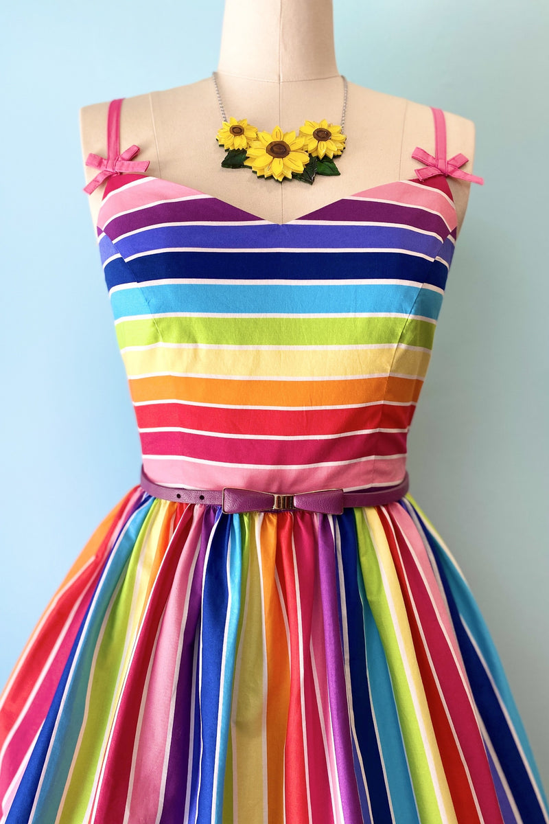 Over the Rainbow 50's Dress by Hell Bunny