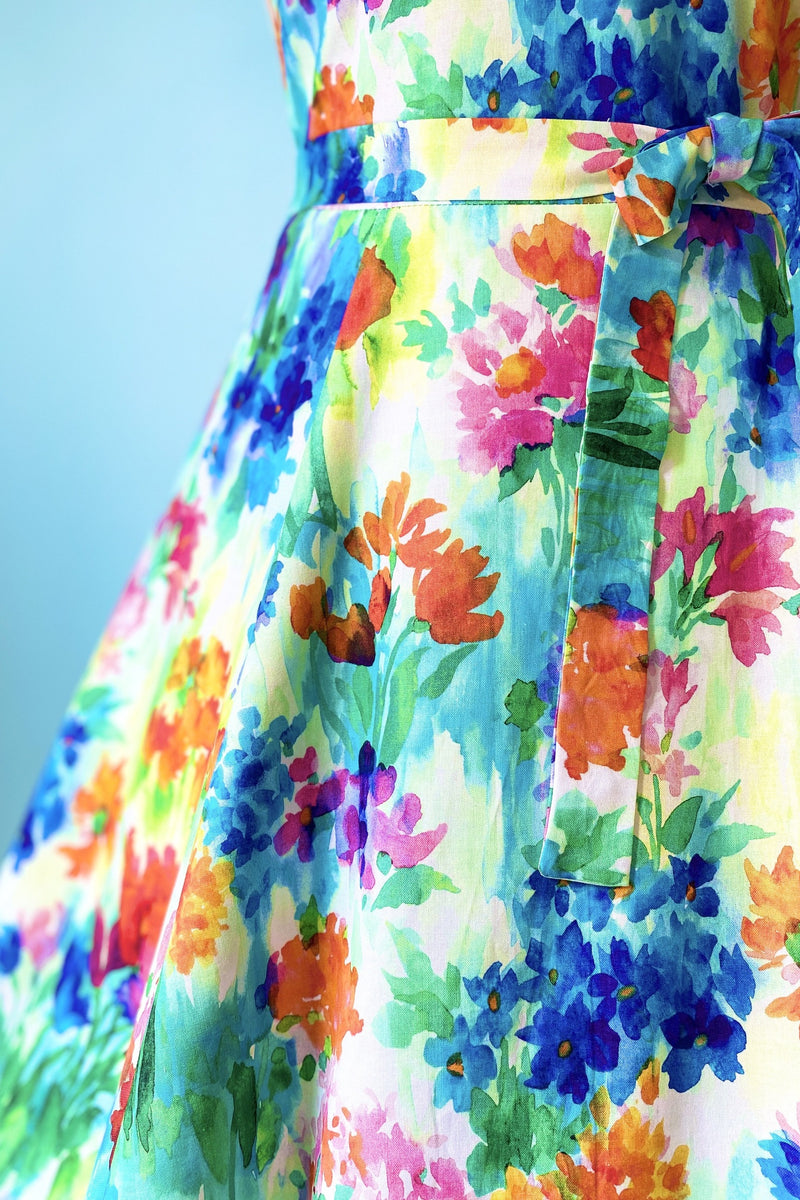 Marie Dress in Watercolor Floral By Heart of Haute