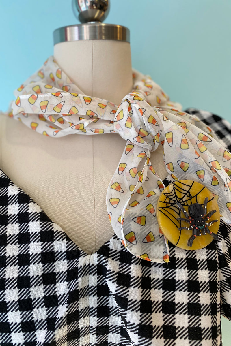 Candy Corn Chiffon Hair Scarf