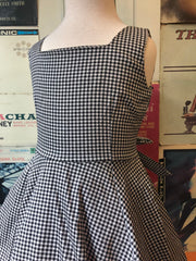 Black & White Gingham Girls Dress by Hearts & Roses