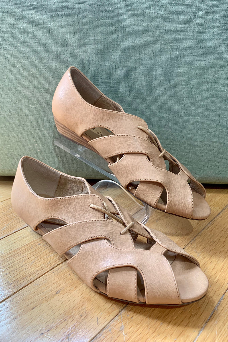 Feline Nude Wedge Sandals by Chelsea Crew