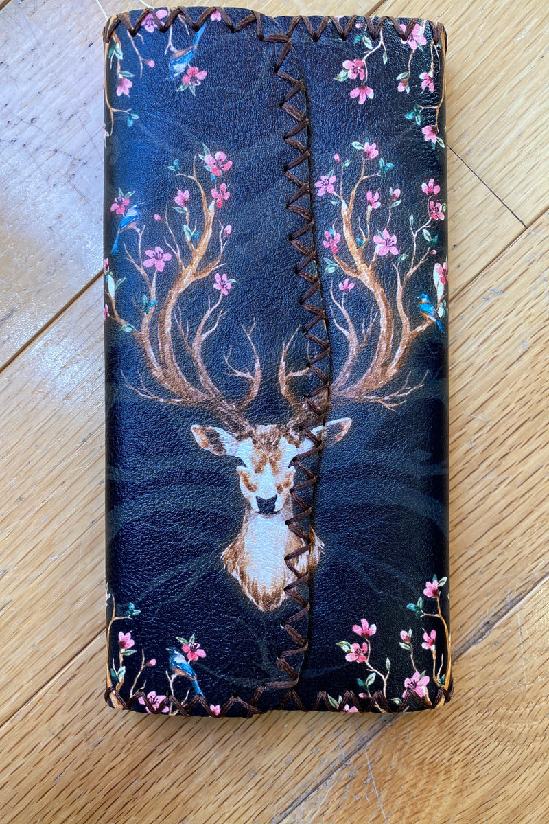 Deer Floral Flap Wallet