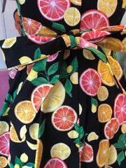 Citrus Tie-Back Mini Dress