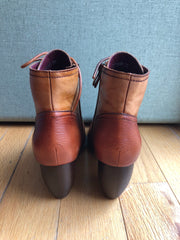 German Two-Tone Leather Bootie by Chelsea Crew
