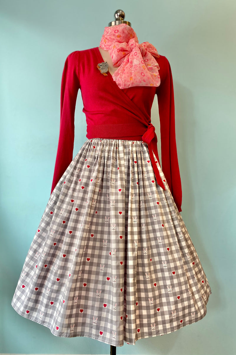 Hopper Gingham Skirt by Hell Bunny