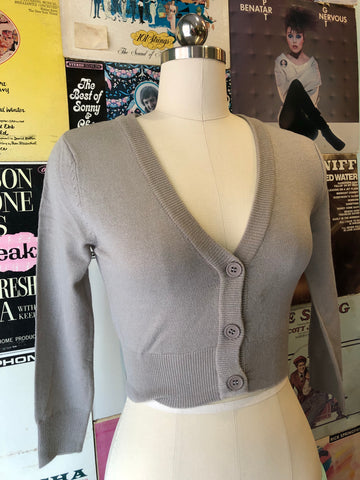 Light Gray Perfect Cropped Cardi