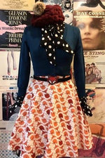 Foxes Skater Skater Skirt by Retrolicious