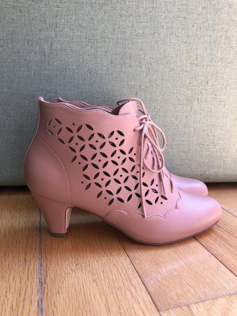 Chelsea Crew Illusion Booties in Pink