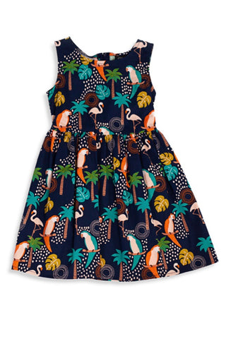 Tropical Birds Kid's Dress