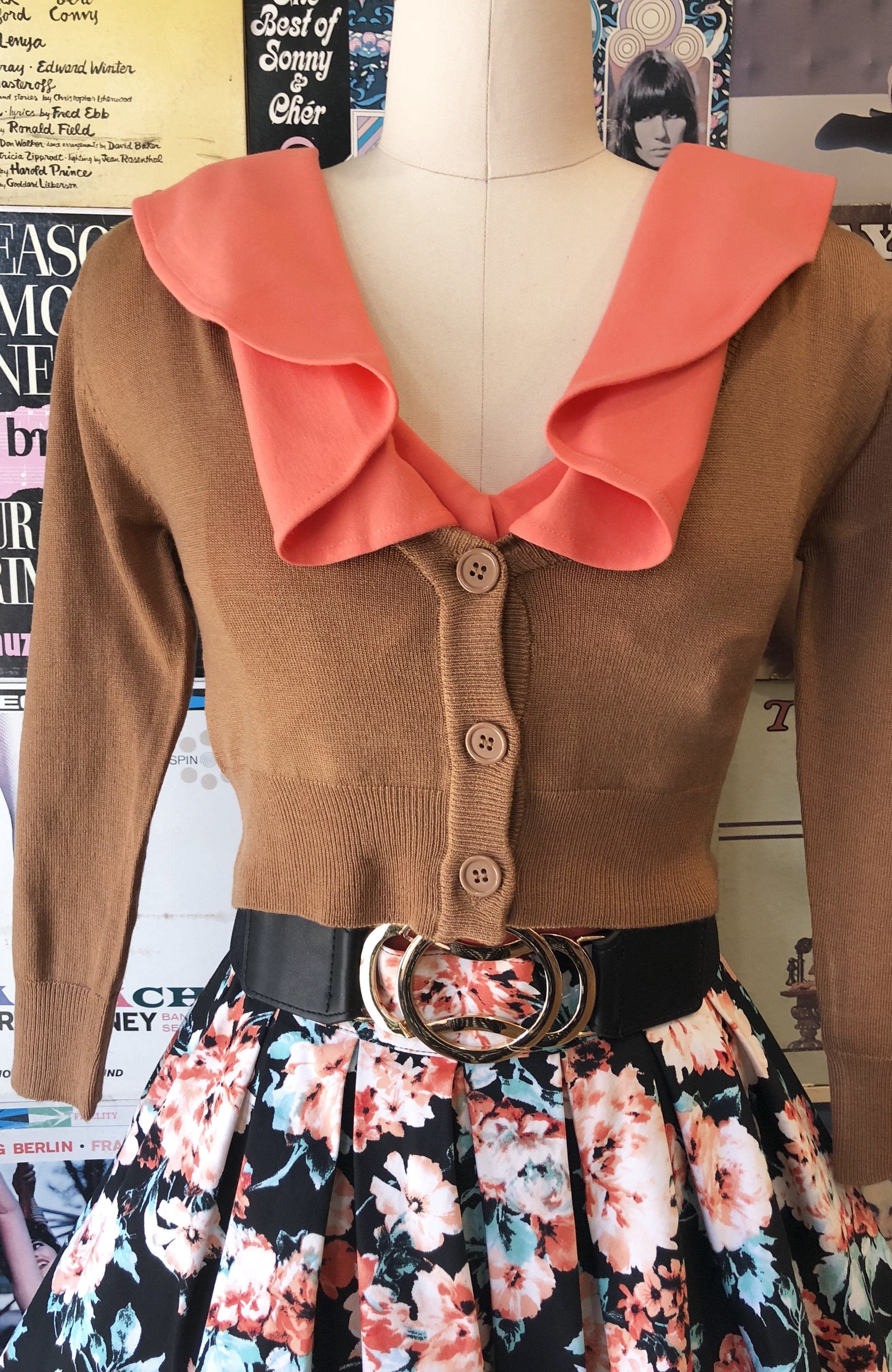 Camel Perfect Cropped Cardi