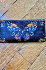 Butterfly Floral Flap Wallet