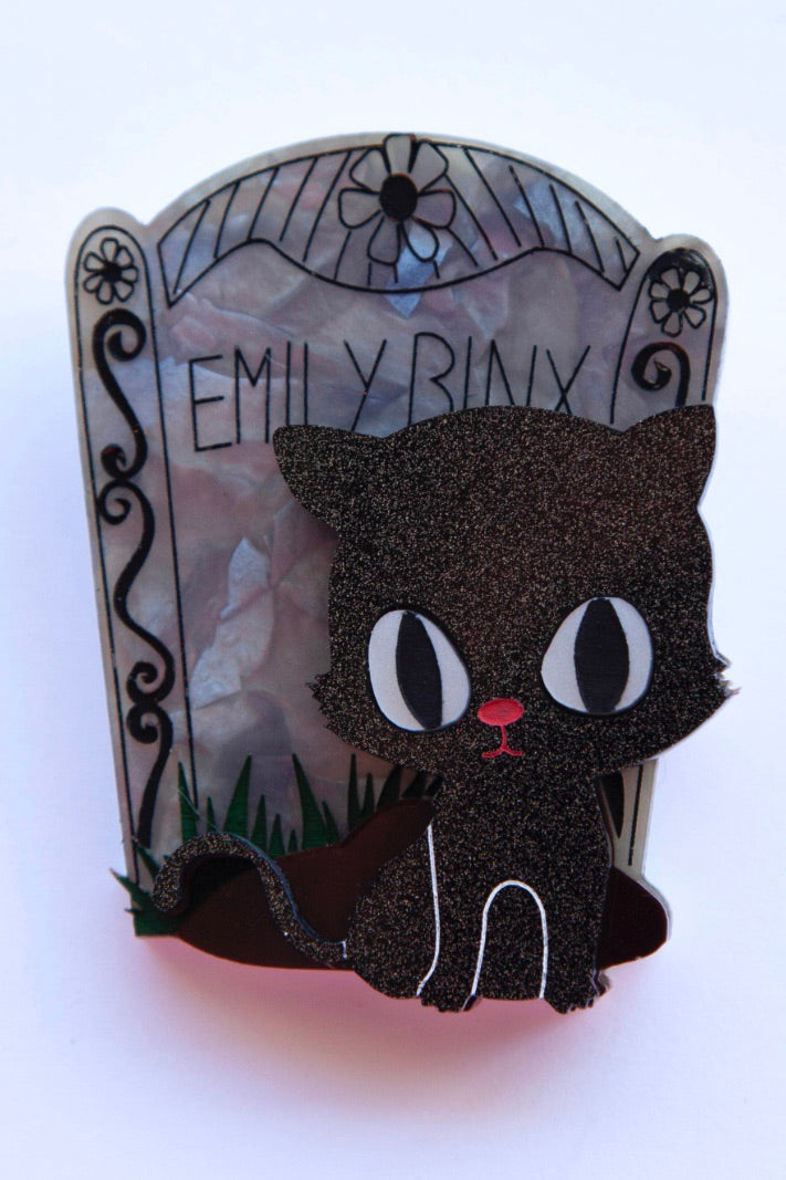 Emily Binx Tombstone Hocus Pocus Brooch by Daisy Jean Florals