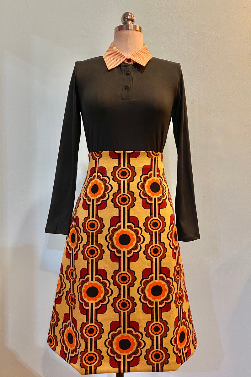 Mod A-Line Skirt in Wine by Traffic People