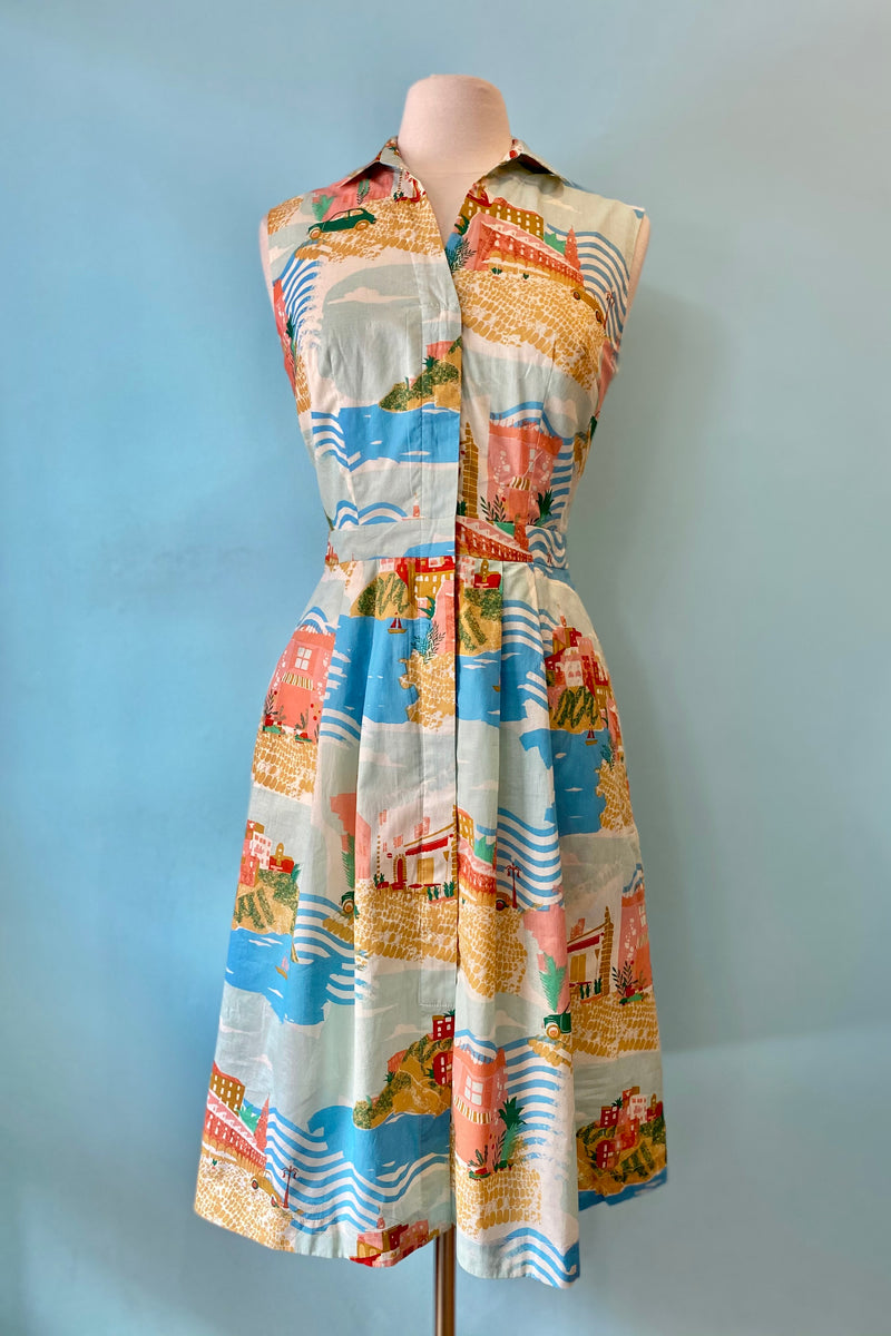 Clara Dress in Sorrento Summer by Emily and Fin