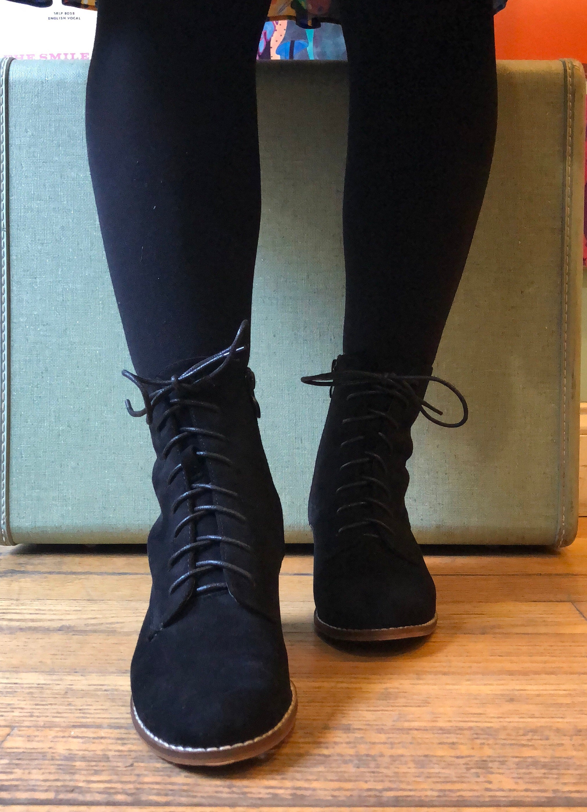 Black Cassandra Lace-up Bootie