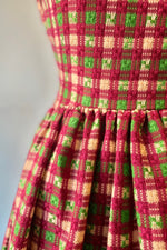 Ivy Dress in Purple Plaid by Saint Geraldine