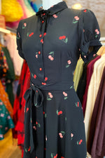 Mary Grace Dress in Cherry Print by Collectif