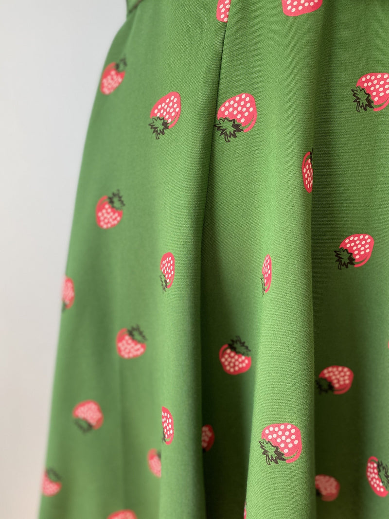 Green and Strawberry Kacey Dress