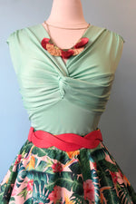 Milla Mint Knotted Bust Top by Voodoo Vixen
