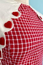 Red and White Gingham Tully Dress by Unique Vintage