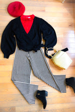 Striped Wide Leg Knit Pants by Compania Fantastica