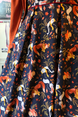 Woodsy Animals Dress in Navy by Retrolicious
