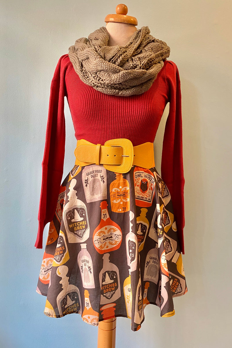 Maroon Ribbed Sweater with Balloon Sleeves by Wild Pony