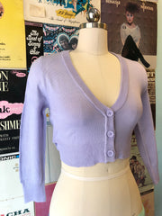 Lilac Perfect Cropped Cardi