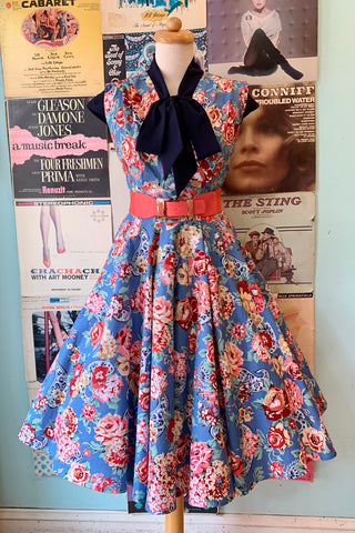Milan Dress in Denim Kashmir Rose by Heart of Haute
