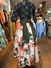 Starlet Overlay Skirt in Tiki Floral by Lady De Couture