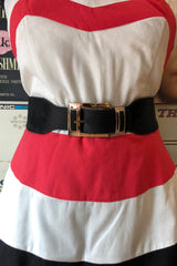 Gold Buckle Cinch Belt in Multiple Colors!