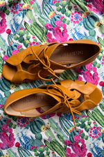 Feline Mustard Wedge Sandals by Chelsea Crew