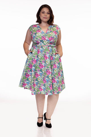 Cactus Greta Dress by Retrolicious