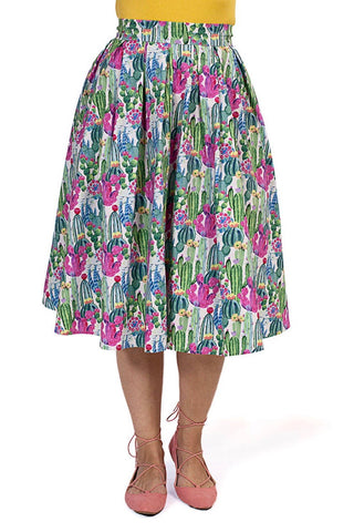 Doris Skirt in Cactus by Retrolicious