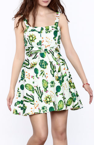 Ixia Cactus Tie-Back Mini Dress