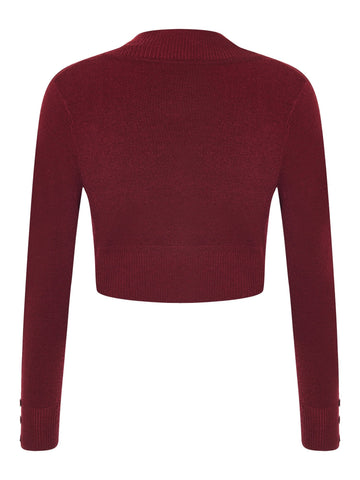 Burgundy Jean Bolero Cardigan by Collectif