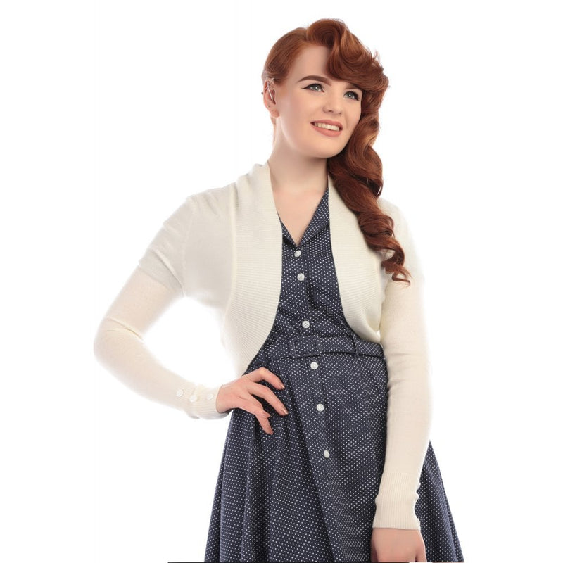 Ivory Jean Bolero Cardigan by Collectif