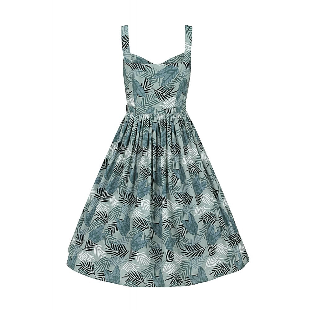 Jemima Cool Palm Sundress by Collectif