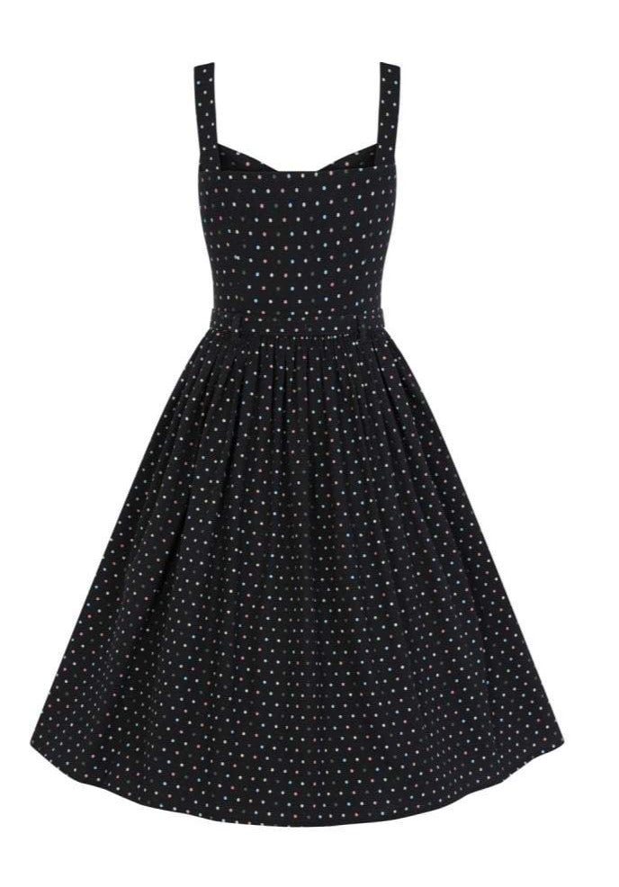 Confetti Black Polka dot Jemima Dress by Collectif