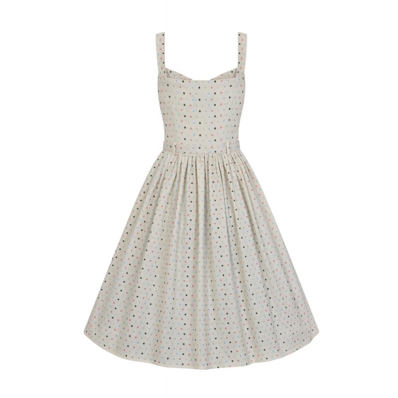 Jemima Dress in Cream Polka Dot by Collectif