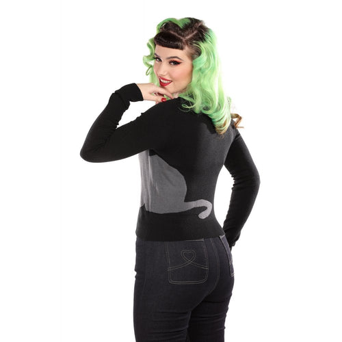 Midnight Cat Jessie Cardigan by Collectif