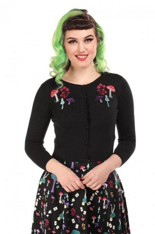 Mushroom Jessie Cardigan by Collectif